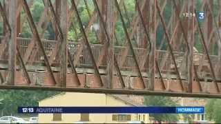 Reconstitution historique du Pont du Garrit en Dordogne