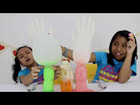 BAKING SODA And VINEGAR ♥ Easy Home Experiment And Educational Video For Children