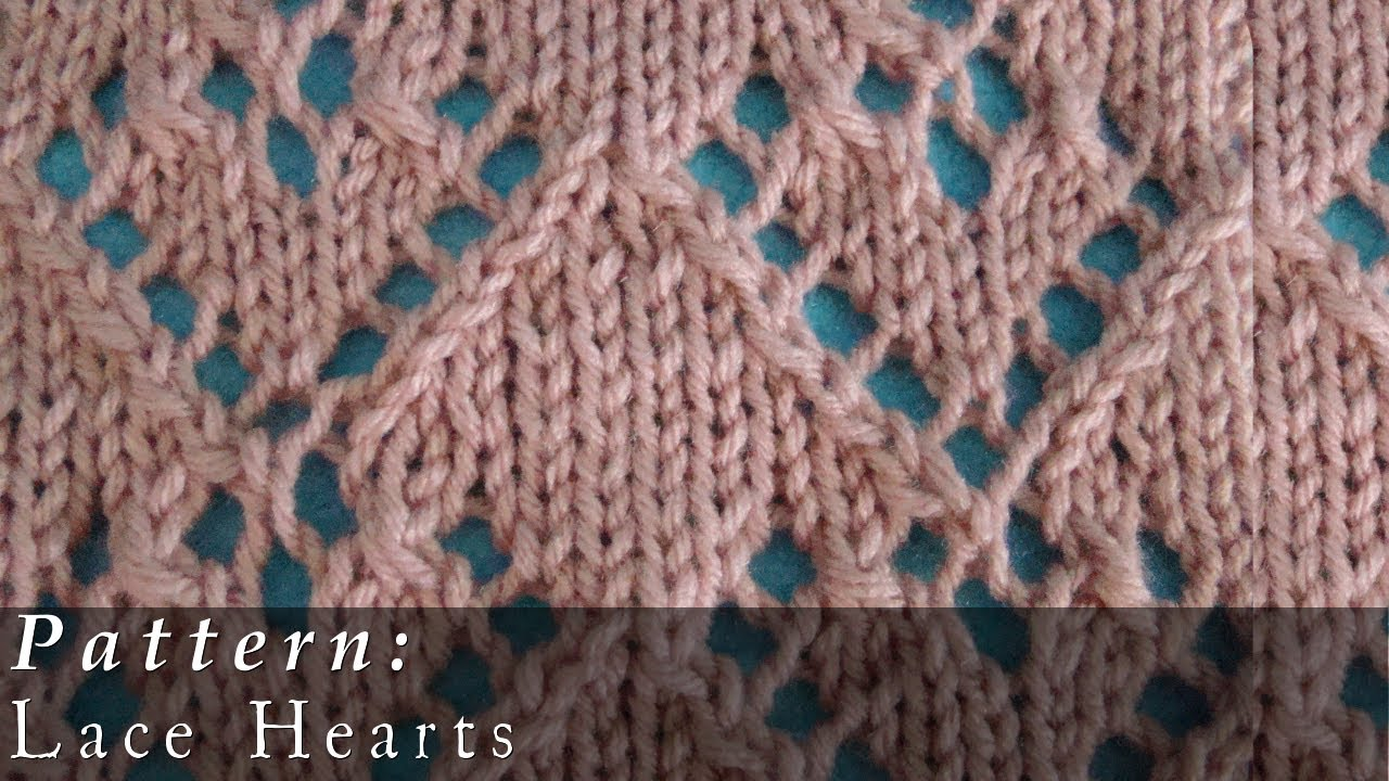 Pattern | Lace Hearts - YouTube