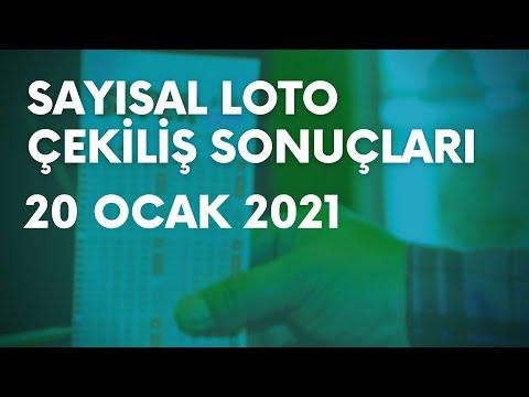 Çılgın Sayısal Loto Sonuçları Belli Oldu   20 Ocak 2021