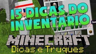 Minecraft: 15 DICAS e TRUQUES SOBRE O INVENTÁRIO!