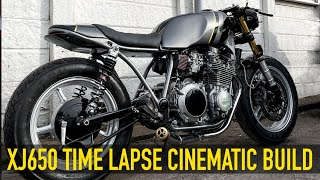 Yamaha XJ650 Cafe Racer Build Cinematic Timelapse by Jish