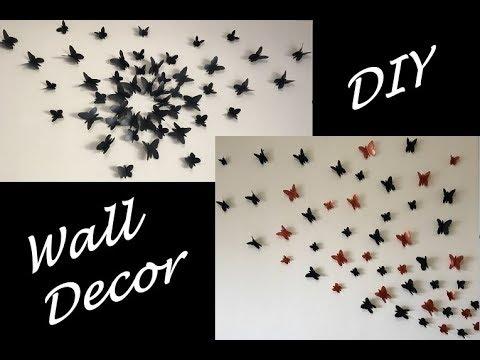 DIY - 3D Butterflies Wall Decor    Wall Art    Home Decor    ItsCatchy