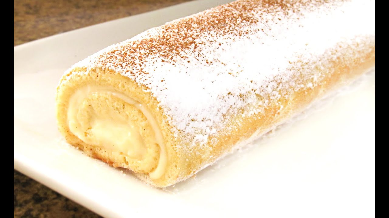 Brazo de gitano relleno de crema youtube for Decoracion de brazo gitano
