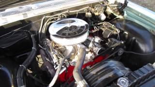 1964 Blue Chevrolet Impala Engine