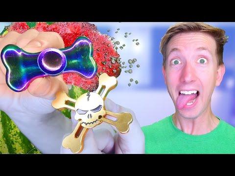 5 Fidget Spinner Toys vs Fruit Ninja