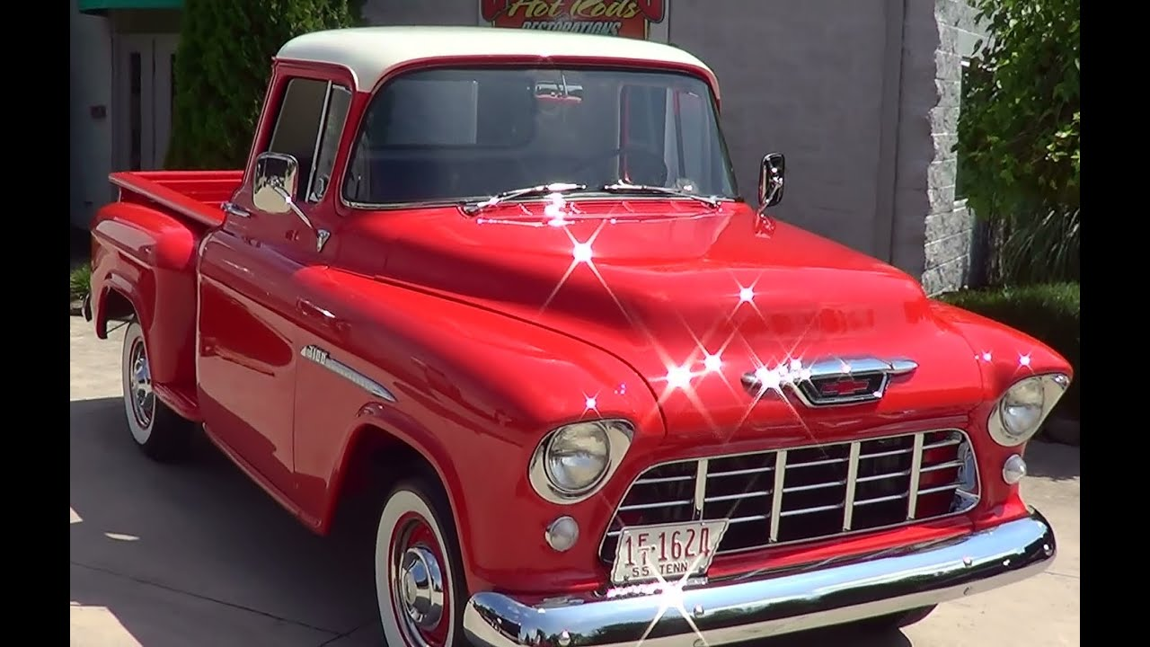 1955 chevy pick up youtube. Black Bedroom Furniture Sets. Home Design Ideas
