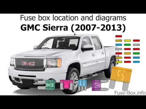 Fuse box location and diagrams GMC Sierra (2007-2013) - YouTube