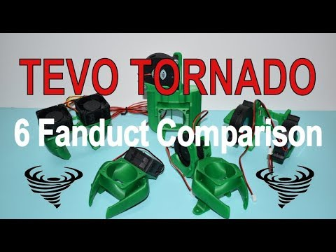 6 Fanduct Comparison - Tevo Tornado 3D Printer