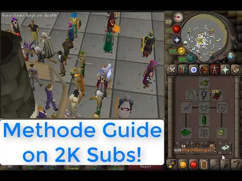 Runescape Girl Accidently trades me 400 Million Coins for Free Supplies - Trade Scamming Part 1 -