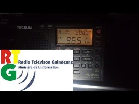 Tecsun PL-310ET first test: Radio Guinée 9650 kHz Conakry, Guinea