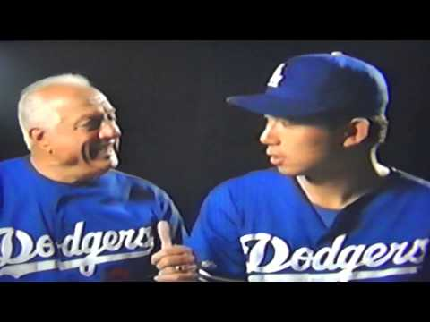 Tommy Lasorda Teaches Hideo Nomo I Bleed Dodger Blue!