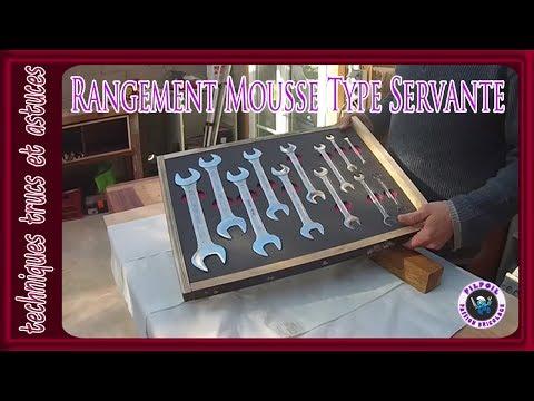 rangement mousse type servante DIY