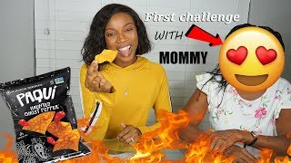 Paqui Haunted Ghost Pepper Chip Challenge GONE WRONG with my MOM