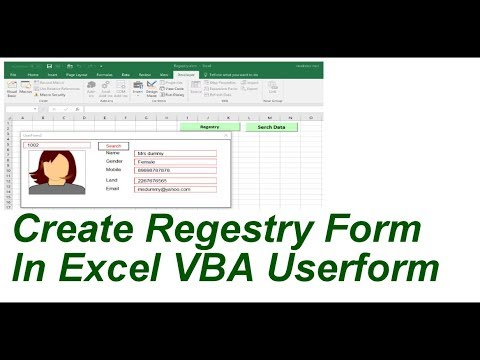 Create Registry Form for Employee Support Excel VBA