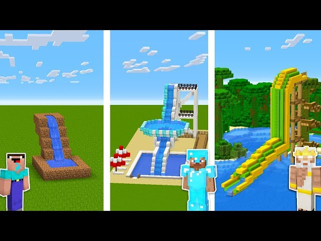 Minecraft NOOB vs PRO vs GOD : WATER PARK CHALLENGE in minecraft / Animation