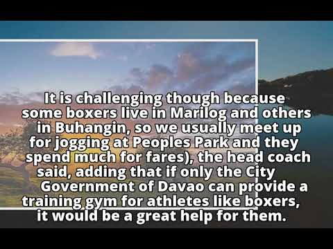 Davao City boxing coach seeks support for trainingDavao City boxing coach seeks support for training