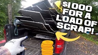 I made over $1000 cashing in this truck full of scrap metal.
