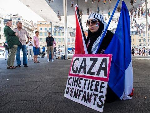 Riitt, reportage photo manifestation Gaza 2 aout 2014 Marseille.