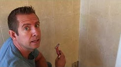 How to repair cement board behind damaged shower tile