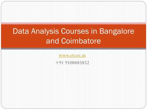 Data Analysis Courses in Bangalore and Coimbatore