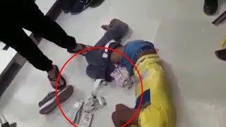 Viral video of surat textile market's people beating thief