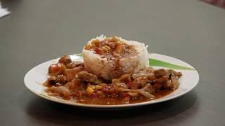 Рис с мясом и соусом