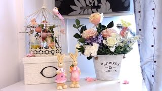 Girly bedroom Tour | Pink Spring and Easter decor