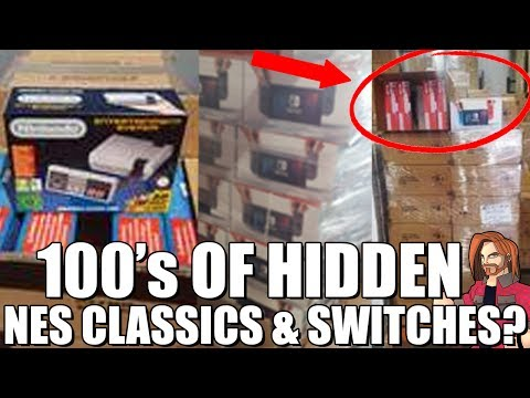 100's Of HIDDEN NES Classics & Nintendo Switches? Gamestop Connection?