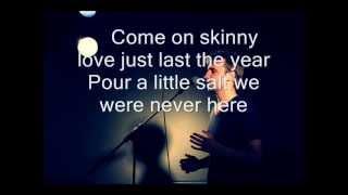 Bon Iver - Skinny love - Karaoke/Instrumental Cover