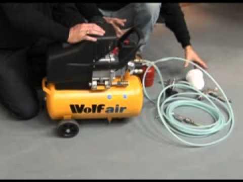 Wolf Sioux 24L, 2 5HP, 9 5CFM Air Compressor Kit