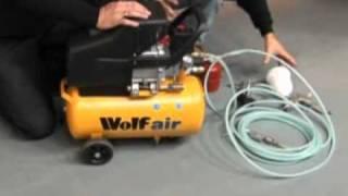 wolf sioux 24l 2 5hp 9 5cfm air compressor kit
