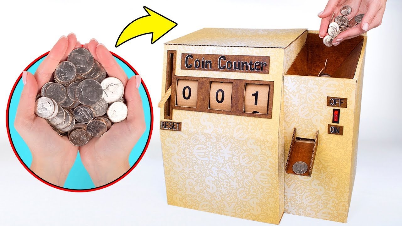 How To Make Cardboard Coin Counter ?