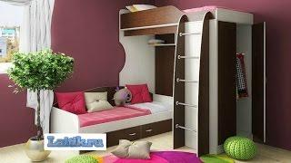 Кровать чердак Фанки Кидз 11  Модульная мебель - диван, кровать, лестница. Интернет-магазин