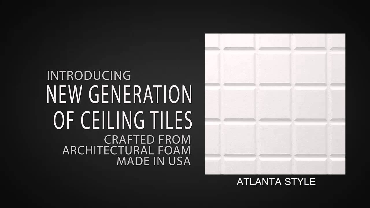 Decorative Ceiling Tile Atlanta Style Youtube