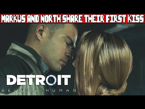 Markus and North Share Their First Kiss DETROIT BECOME HUMAN