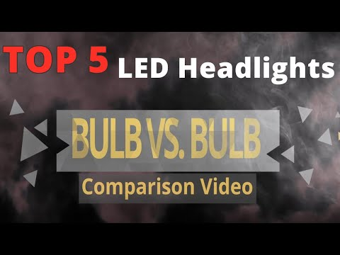 Brightest & Best LED Headlights? TOP 5 Bulbs Review At Projector & Reflector Housing Comparison Test