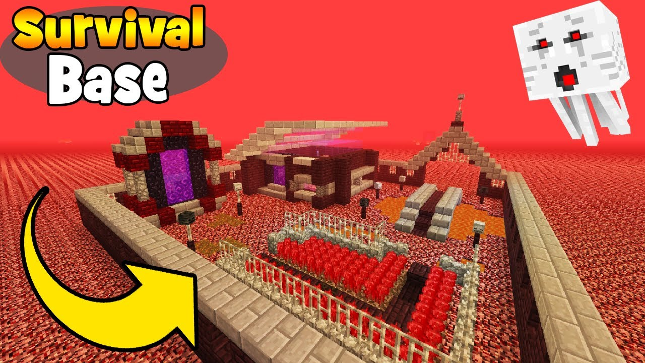 Minecraft Tutorial How To Make A Nether Survival Base Survival Base