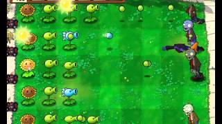 Plants vs Zombies уровень 1-7