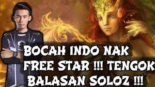 Bocah Indo Nak Free Star !! Tengok Balasan Soloz !! Soloz Gameplay Mobile Legends