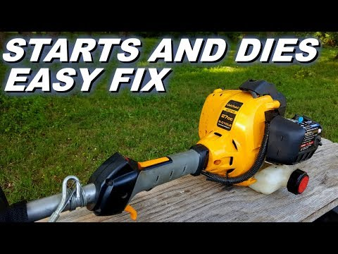 Trimmer starts and dies.  Quick fix.