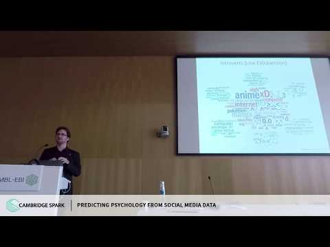 Predicting Psychology from Social Media Data: David Stillwell, Cambridge Judge Business School