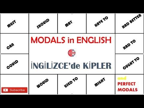 Baixar Modals in English (İngilizce'de Kipler ) --TÜMÜ --