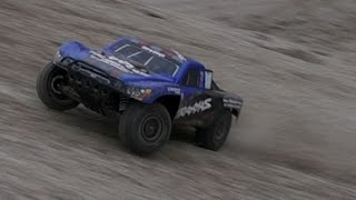 Highest Drop // Traxxas Slash 2wd VXL gravel pit slow motions bash [HD]