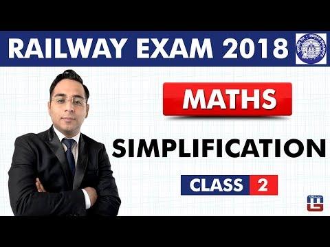 Simplification | Maths | Class - 2 | Railway Recruitment Board | Railway ALP / Group D | 9 PM