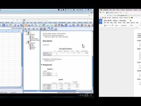 Stanford Educ 401A SPSS - Class 1 - Getting started and descriptives
