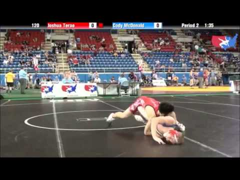 Joshua Terao 2012 Fargo, Body Lock & Seoi Nage Arm Throw,Cadet Greco