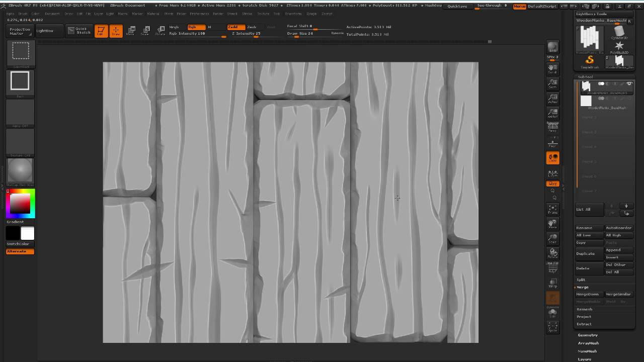 How To Stylized Wooden Planks Texture Part 4 Youtube