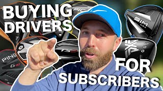 I bought golf drivers to give them away!   YOU could win one!
