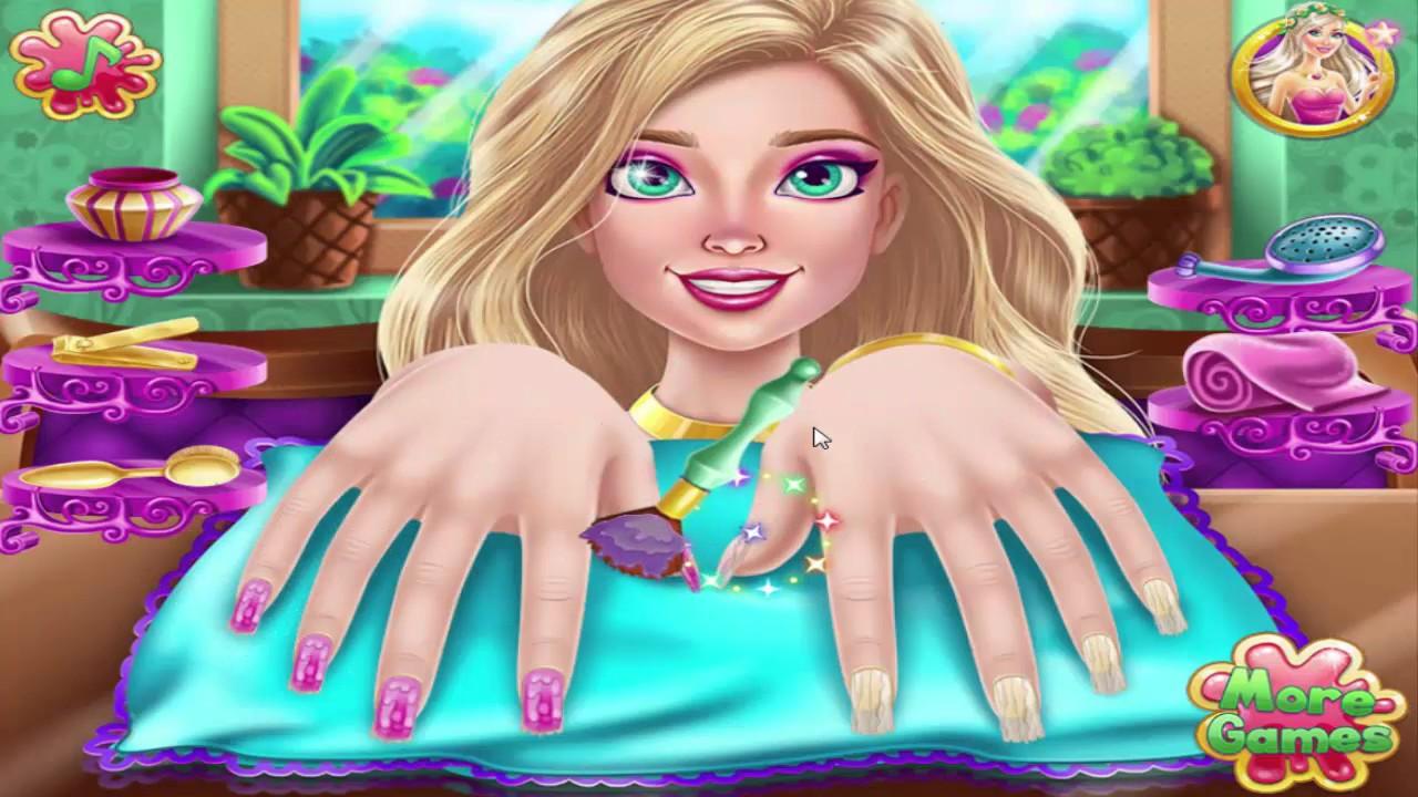nail games galaxy nails art design